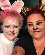Bunny and Leopard Homemade Costume