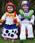 Buzz and Jessie Kids Homemade Costume