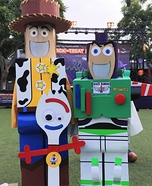 Buzz & Woody help Forky Homemade Costume