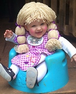 Cabbage Patch Baby Girl Homemade Costume