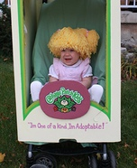 Creative homemade costumes for babies - Cabbage Patch Kid Halloween Costume