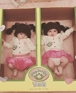 Cabbage Patch Twins Homemade Costume