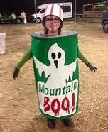Can of Mountain Boo Homemade Costume