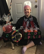 Candy Apple and Vendor Dog and Owner Homemade Costume