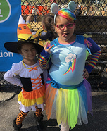 Candy Corn and Rainbow Dash Homemade Costume
