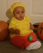 Candy Corn Baby Homemade Costume