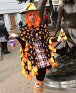 Candy Corn Witch Homemade Costume
