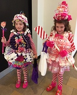 Candy Land Miss Mint and Lollipop Princess Homemade Costume