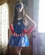 Girl's Captain America Costume