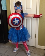 Captain American Girl Costume
