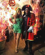 Captain Hook & Tinkerbell Couple Homemade Costume