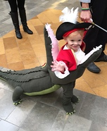 DIY baby costume ideas: Captain Hook getting Eaten by Tick Tock Croc Costume