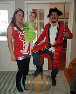 Captain Morgan, rum with a splash of coke and a hint of lime Homemade Costume