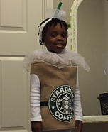 Caramel Frappuccino Homemade Costume