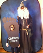 Homemade Carbon Footprint Costume