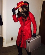 Homemade Carmen Sandiego Costume
