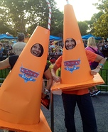 Homemade Sippy Cones Costumes