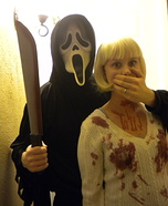 Casey Becker and Ghostface from Scream Costume