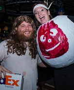 Cast Away Couple Homemade Costume
