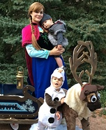 Cast of Frozen Homemade Costume