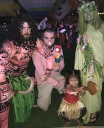 Cast of Moana Homemade Costume