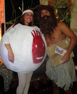 Couples Halloween costume idea: Castaway Couple Costume