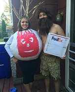Coolest couples Halloween costumes - Castaway Wilson and Chuck Noland Costume