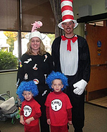 Cat In The Hat Family Costume