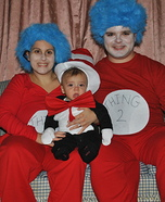 Cat in the Hat and Thing 1 and Thing 2 Homemade Costume
