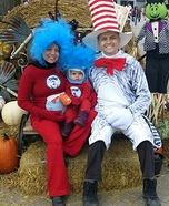 Cat in the Hat Family Halloween Costume