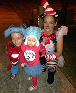 Cat in the Hat with the Things Homemade Costume