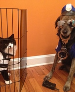 Cat Burglar and Dog Police Officer Costumes