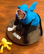 Cat Shark riding a Roomba Homemade Costume