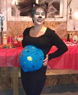 Cat holding a Fishbowl homemade costume