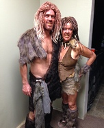 Cave Man and Women Costumes