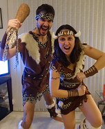 Cavemen Couple Homemade Costume