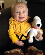DIY Charlie Brown Baby Costume