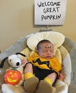 Charlie Brown Baby Costume DIY