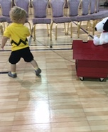 Charlie Brown and Snoopy Homemade Costume