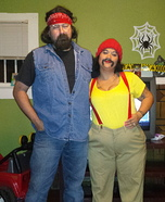Cheech and Chong Couple Homemade Costume