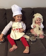 Chef Mamma Mia and Spaghetti and Meatballs Homemade Costume