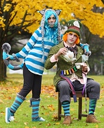 Cheshire Cat and Mad Hatter Homemade Costume