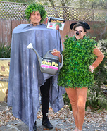 Chia Head and Chia Pet Homemade Costume