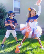 Chicago Bears Football Player and Cheerleader Costumes
