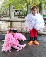 Chicken and Flamingo Homemade Costume