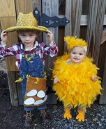Chicken farmer and his Little Chick Homemade Costume