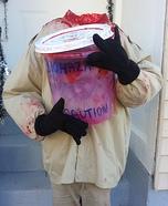 Child Head in Plastic Box Homemade Costume
