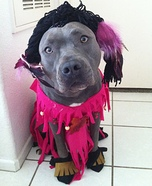 Homemade Pocahontas Costume for Dogs