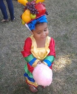 Cute baby costume ideas: Chiquita Banana Lady Homemade Costume