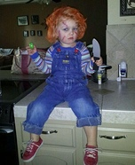 Homemade Chucky Baby Costume